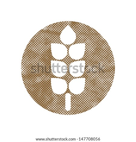 Spike icon vector with pixel print halftone dots texture. - stock vector