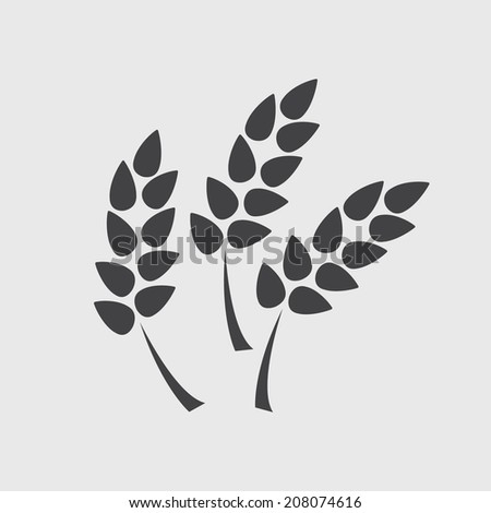 spikelets icon - stock vector