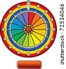 spin wheel - stock vector
