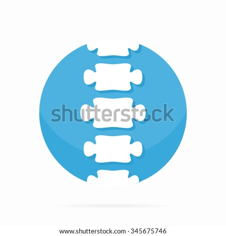 Spine diagnostic center logo. - stock vector