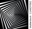 Spiral Abstract vector background - black and white - stock vector