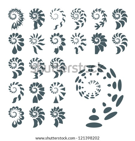 SPIRAL. Abstract vector illustration. - stock vector