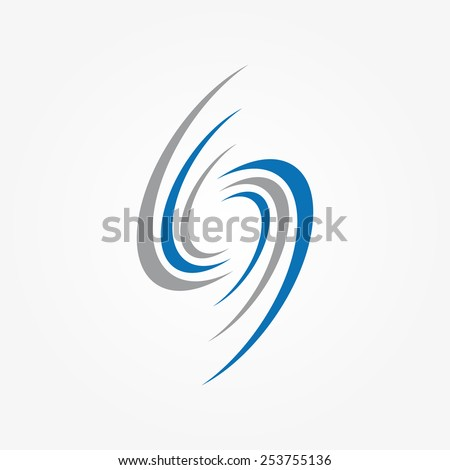 Spiral and swirls logo design elements - stock vector