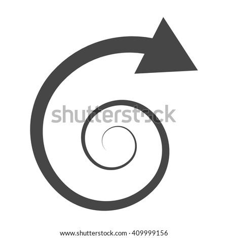 Spiral arrow icon. Idea icon. Invention icon. - stock vector