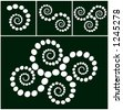 spiral design elements in stages vector - stock