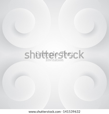 Spiral form background vector. - stock vector