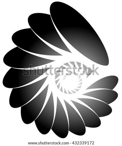 Spiral, helix, snail shape.  - stock vector