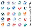 Spiral movement and rotation. Design elements set. Vector art. - stock photo