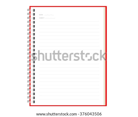 Spiral notebooks realistic page white paper. - stock vector