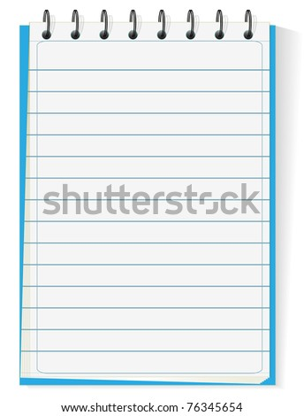 Spiral notepad isolated on white - stock vector