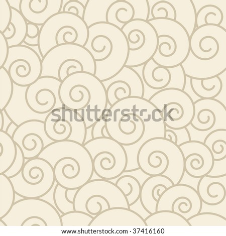 Spiral seamless pattern.  (See more seamless backgrounds in my portfolio). - stock vector