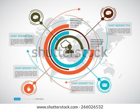 Spiral Timeline Infographics. Vector design template. - stock vector