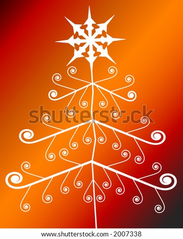 spiral tree  - change topper or color easily - stock vector