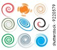 spirals - stock vector