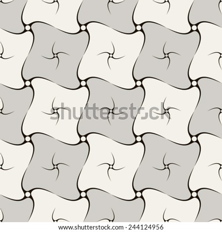 spirals abstract pattern, seamless texture, vector art illustration - stock vector