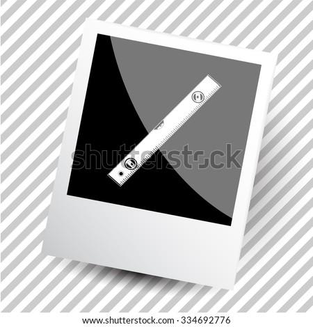 spirit level. Photoframe. Vector icon. - stock vector