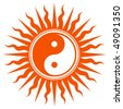 Spiritual Yin Yang Sign - stock vector