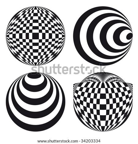 Spirograph ornament tattoo design elements - stock vector
