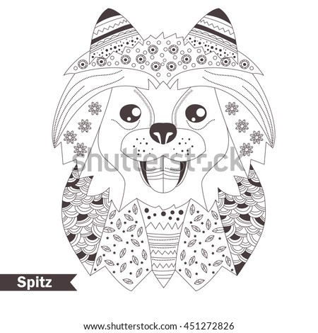 spitz zentangle style coloring book for adult antistress coloring pages hand drawn
