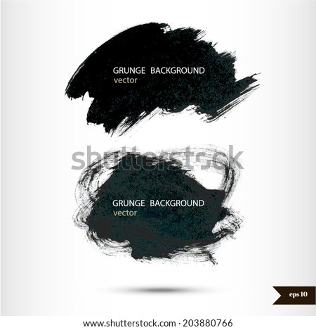 Splash banners. Watercolor background. Grunge background. Vintage background. Texture background. Hand drawn background with place for your text - stock vector