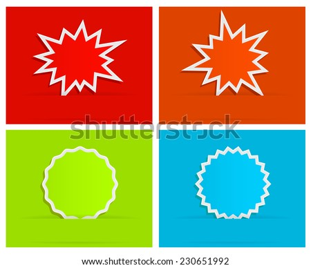 splash star burst background with banner design - stock vector