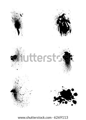 splash vector set 1 - stock vector