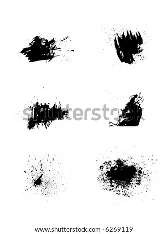 splash vector set 3 - stock vector
