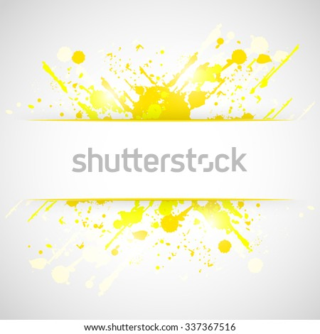 Splash yellow grunge vector abstract background/design with place for your content.