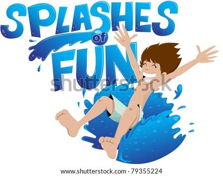 splashes of fun - stock vector