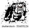 Splatter Bulldog - stock vector
