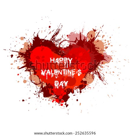 Splatter vector Happy Valentines Day background design banner illustration - stock vector