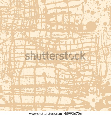 Splattered with dots seamless wallpaper pattern. Hand-drawn sprayed blots painted illustration. Artistic design of ink splashes on the surface. Creative backdrop elements for textile. Grunge texture. - stock vector