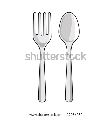 Spoon and Fork Vector Icon