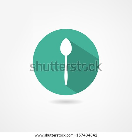 spoon icon - stock vector