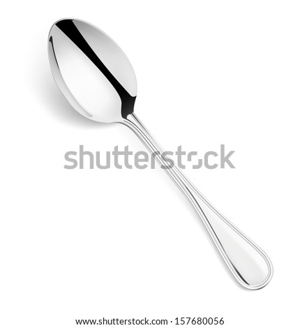 Spoon isolated on white background. Vector illustration. Realistic.  - stock vector