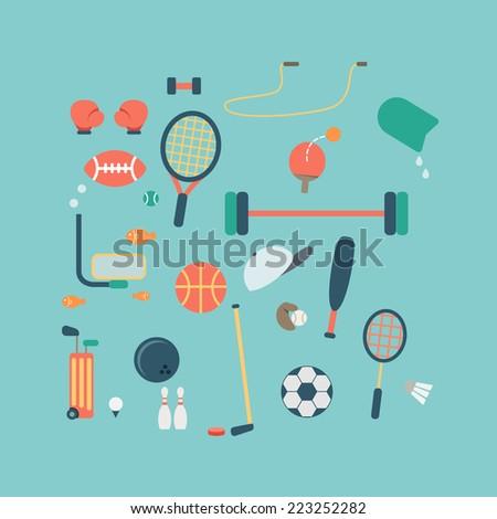 sport accessories icon vector - stock vector
