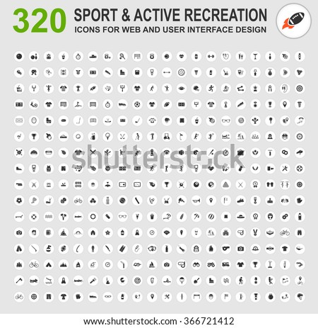 Sport and active recreation icons for web - stock vector