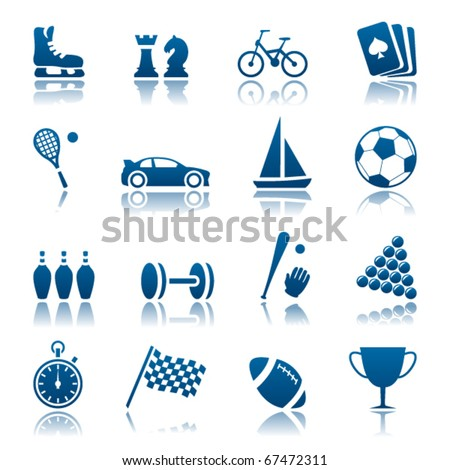 Sport and hobby icon set