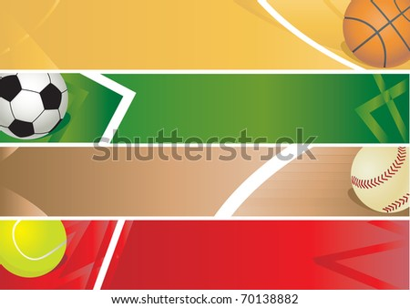 Sport balls banner. Vector illustration - stock vector