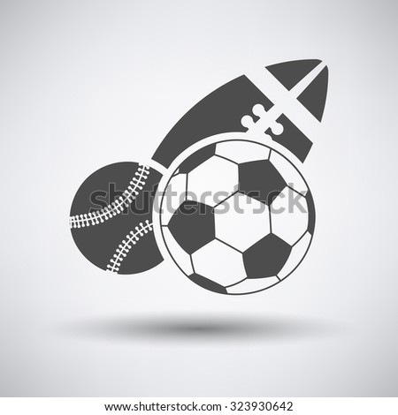 Sport balls icon over grey background. Vector illustration. - stock vector