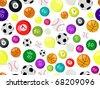 sport balls seamless pattern. Vector illustration of sport background. - stock vector