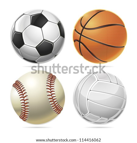 Sport balls. Vector illustration - stock vector