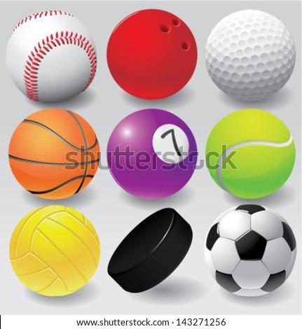 Sport balls vector illustration eps 8 - stock vector