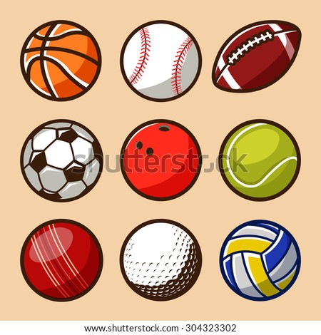 Sport Balls Vector Set 01 - stock vector