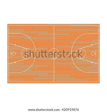 Sport baskeball field vector icon