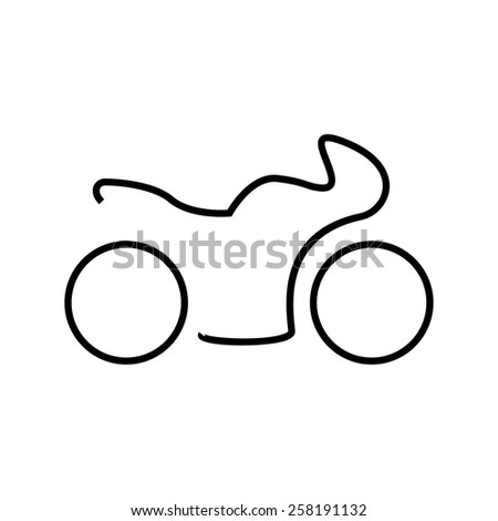 Sport bike motorcycle silhouette icon - stock vector