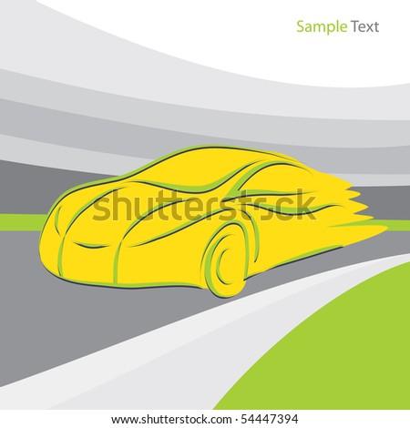 Sport Car - stock vector