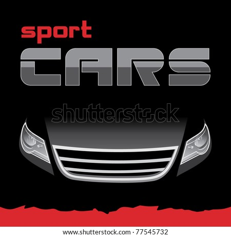 Sport car. Background for card. Vector - stock vector