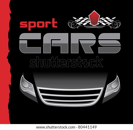 Sport car. Background for design. Vector - stock vector