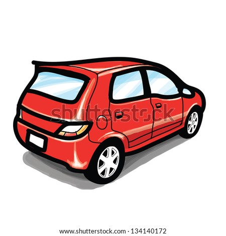 Sport car - Hand drawn - stock vector